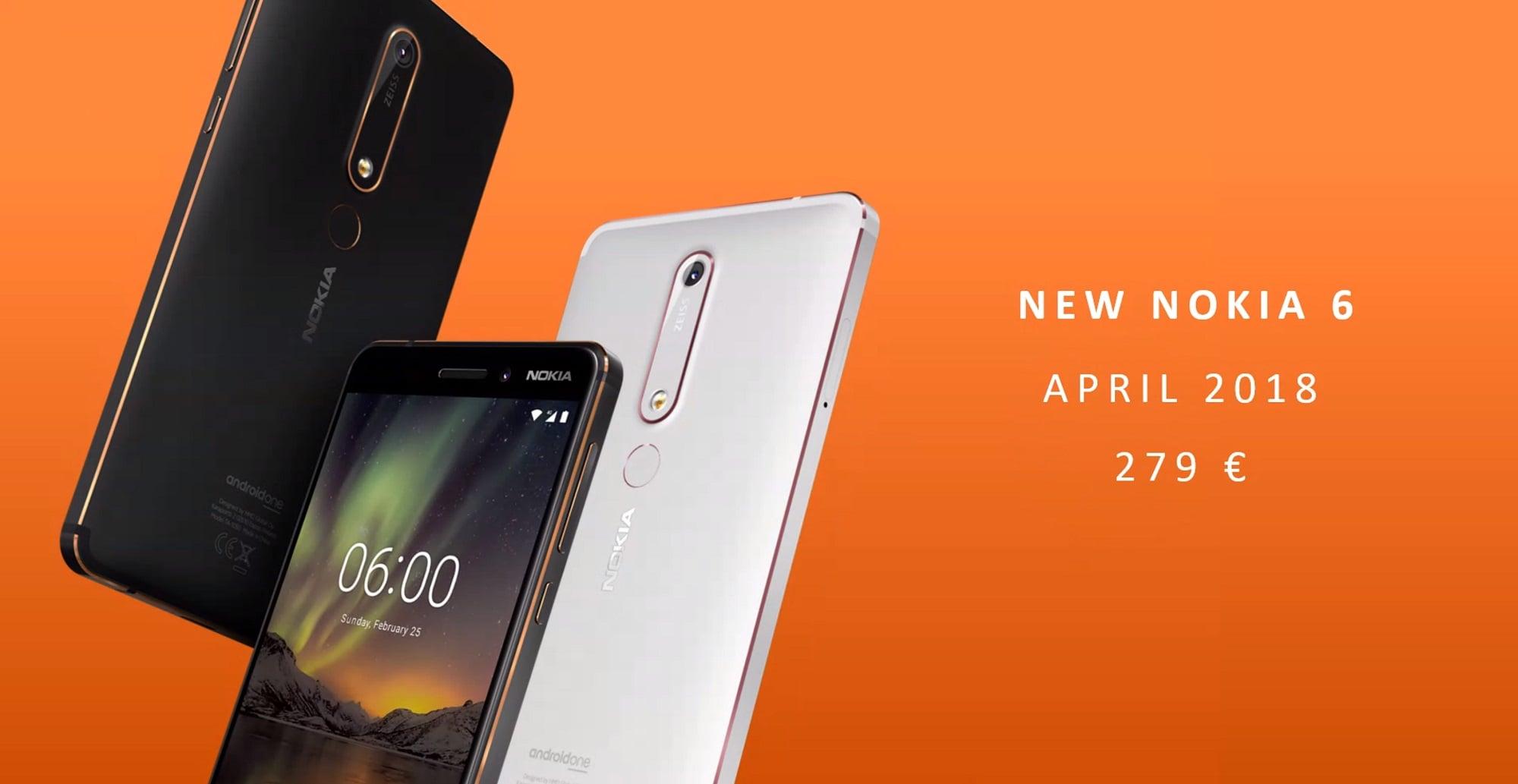 Tabletowo.pl Nowa Nokia 6 trafi do sprzedaży w Europie w kwietniu. Znamy cenę Android MWC 2018 Nokia Nowości Smartfony