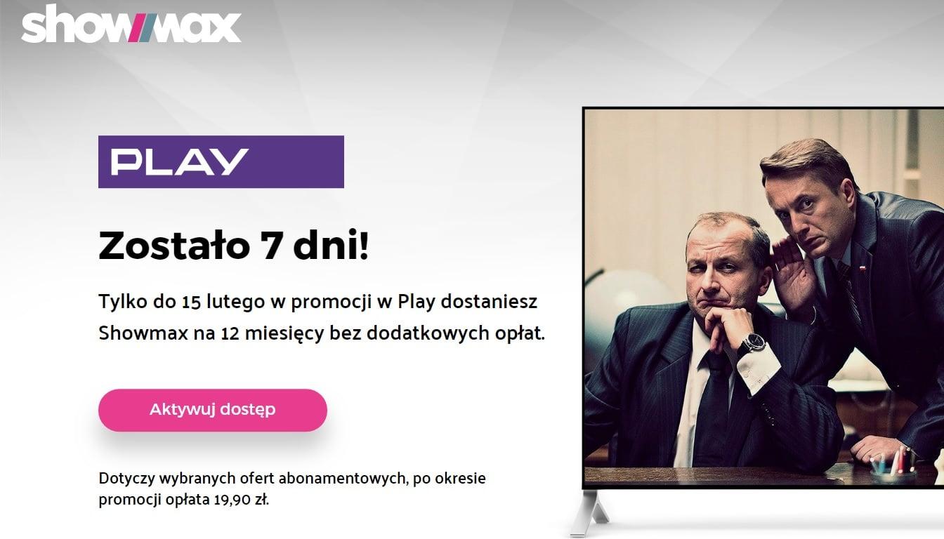 Tabletowo.pl To już ostatni moment, aby załapać się na 12 miesięcy darmowego dostępu do Showmax (tylko dla klientów Play) GSM Promocje