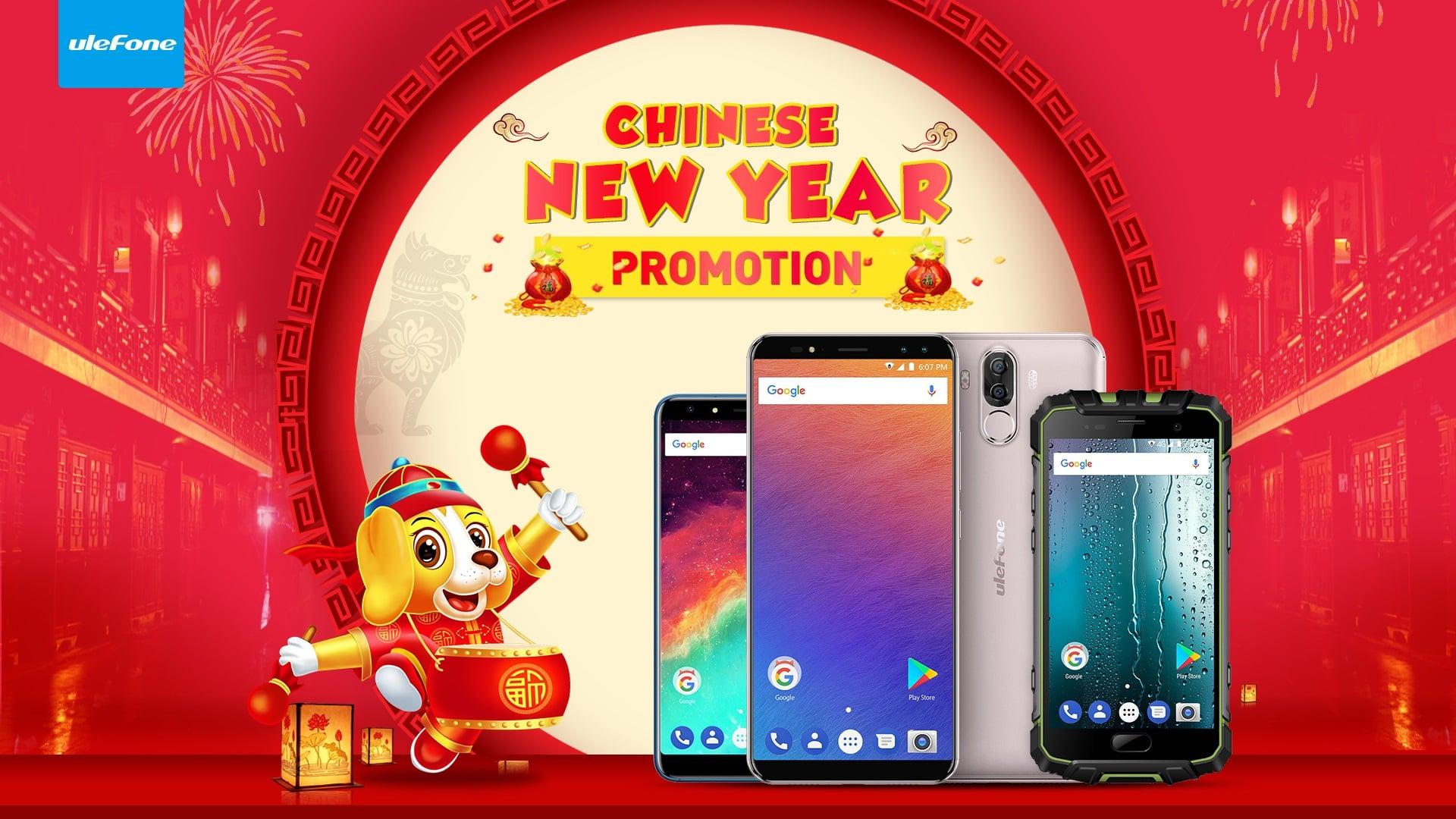 Zbliża się Chiński Nowy Rok i z tej okazji kupisz wiele smartfonów Ulefone w niskich cenach 19