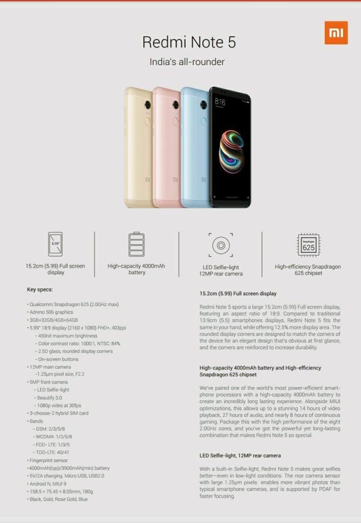 Tabletowo.pl Po co czekać do jutra, skoro już dziś wiemy wszystko o Redmi Note 5 i Redmi Note 5 Pro. Ich wygląd też znamy Android Plotki / Przecieki Smartfony Xiaomi