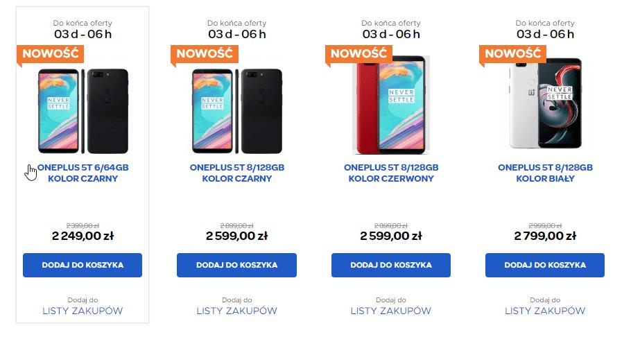 Tabletowo.pl Gdzie kupić OnePlus 5T? Możesz to zrobić w pobliskim markecie - serio, np. w Carrefourze Android Ciekawostki OnePlus Smartfony