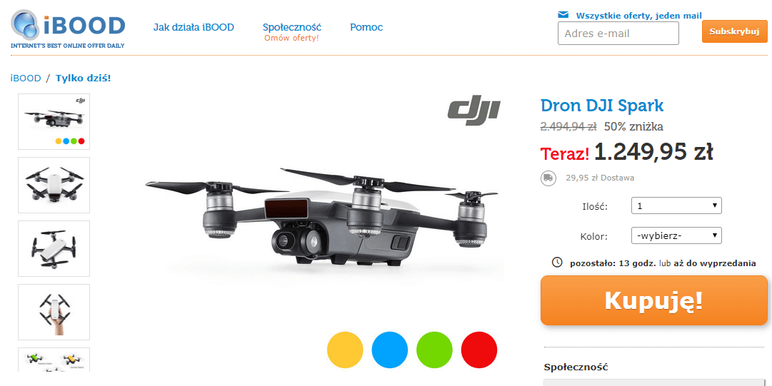 Zawsze marzyłeś o dronie? Do północy masz czas, żeby kupić DJI Spark w dobrej cenie 21