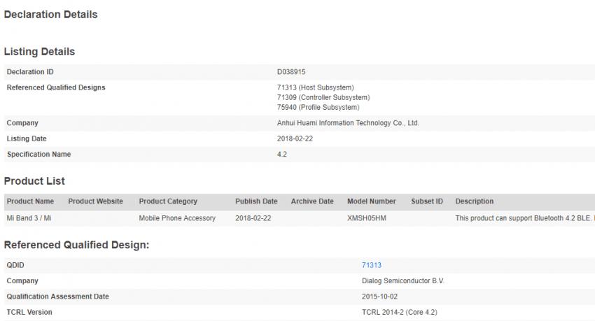 Tabletowo.pl Może się zdarzyć, że na MWC zobaczymy nową opaskę Xiaomi - Mi Band 3 Plotki / Przecieki Wearable Xiaomi