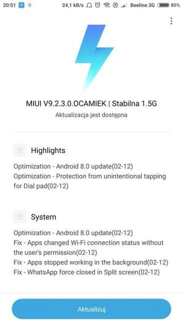 Na Xiaomi Mi 6 trafia właśnie długo wyczekiwana aktualizacja - Android 8.0 Oreo 19