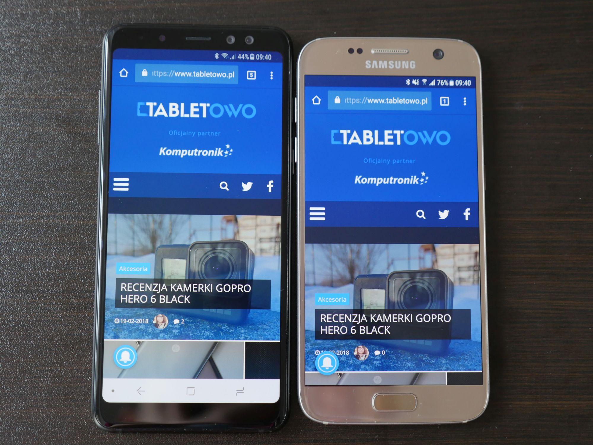 Porównanie: Samsung Galaxy A8 2018 vs Samsung Galaxy S7. Jak najnowszy średniak wypada w porównaniu z dwuletnim flagowcem? 17
