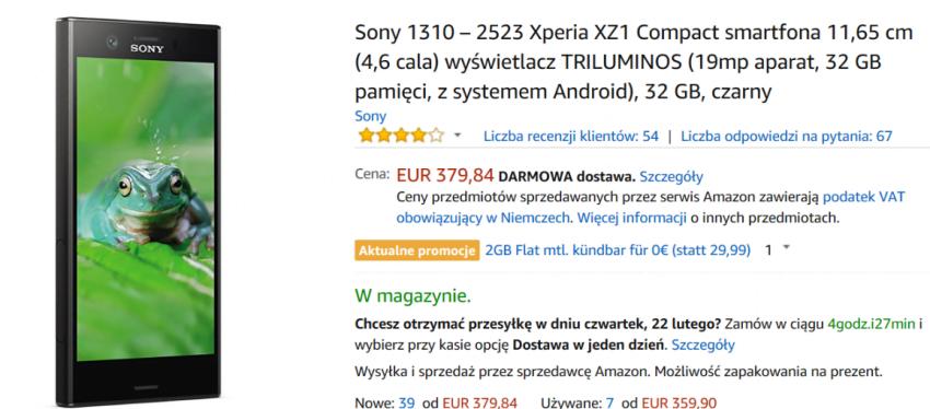 Tabletowo.pl Mały smartfon? Albo iPhone SE albo to. Na Amazonie dostaniesz Sony Xperię XZ1 znacznie taniej Promocje Smartfony Sony