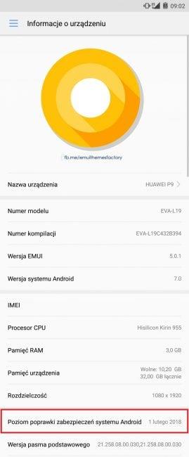 Tak szybko? Huawei wypuszcza kolejną aktualizację zabezpieczeń na model P9 18