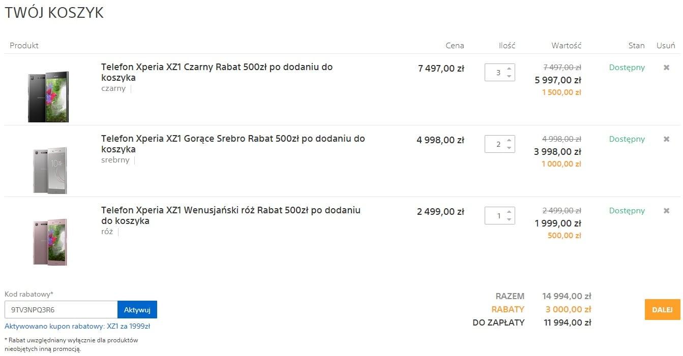 Tabletowo.pl Promocja: Sony Xperia XZ1 w świetnej cenie (za mniej niż 2000 złotych) prosto z Sony Centre Android Promocje Smartfony Sony