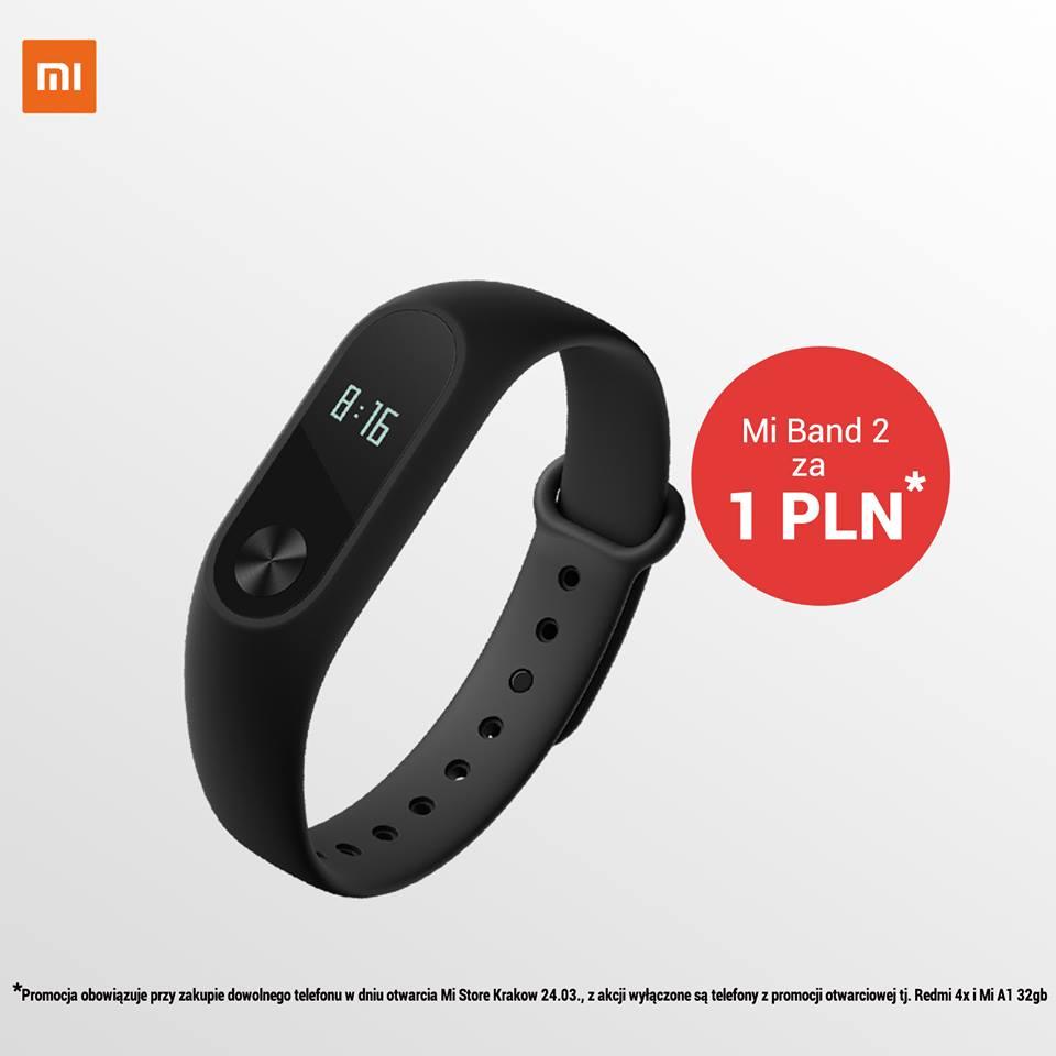Tabletowo.pl To świetna oferta: na sobotnim otwarciu salonu Xiaomi w Krakowie kupisz Mi Band 2 za jedyną złotówkę Promocje Wearable Xiaomi