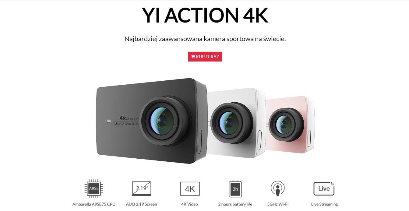 Tabletowo.pl Mega promocja: kamerka YI Action 4K w niezwykle atrakcyjnej cenie - taniej na pewno jej nie kupicie Promocje Xiaomi
