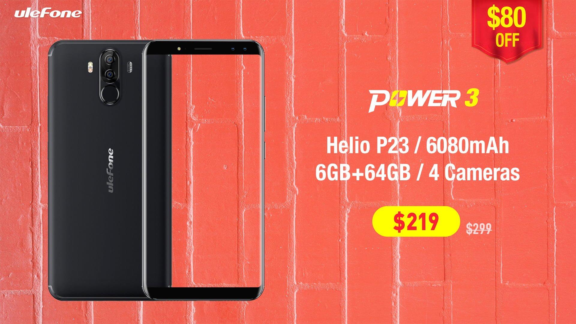 Tabletowo.pl Szybka promocja na AliExpress: Ulefone Power 3 i Power 3S taniej w oficjalnym sklepie producenta Chińskie Promocje Smartfony