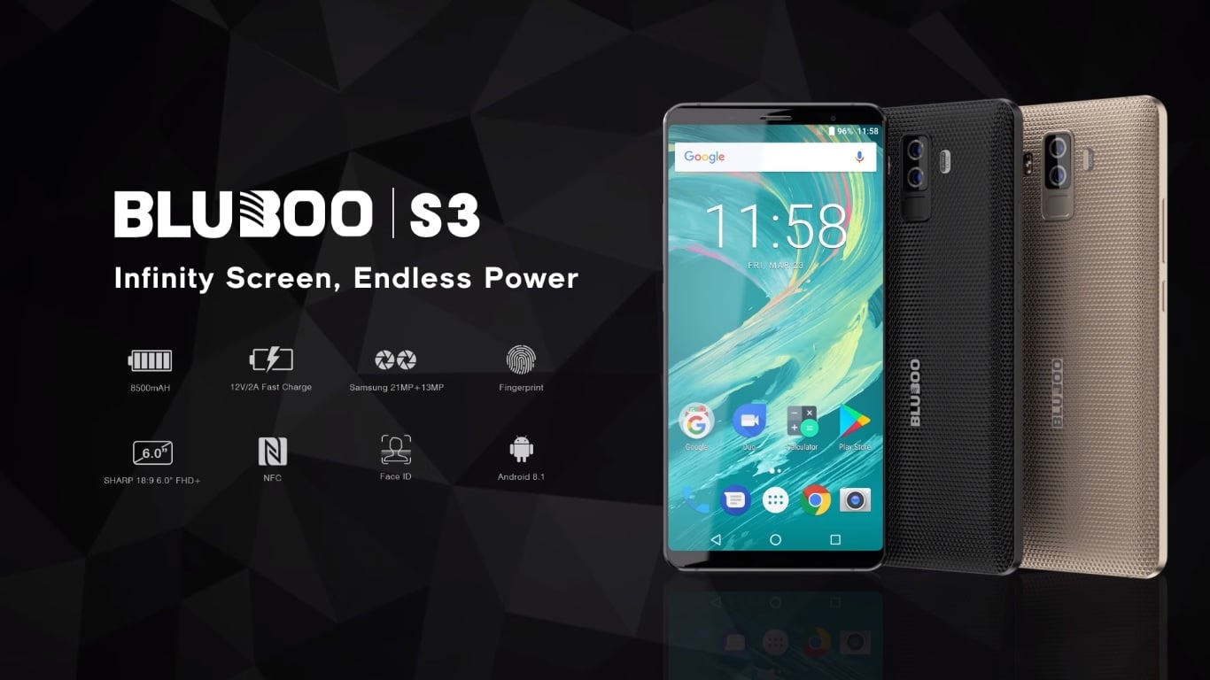 Bluboo S3 wygląda niepozornie, ale ma baterię o pojemności aż 8500 mAh i NFC 16