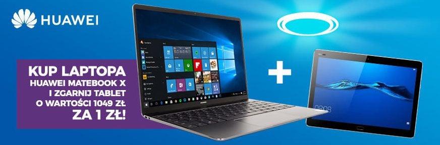 Tabletowo.pl Promocja: jeśli kupisz laptop Huawei Matebook X, dostaniesz tablet MediaPad M3 Lite za 1 zł Laptopy Promocje Sprzęt Tablety