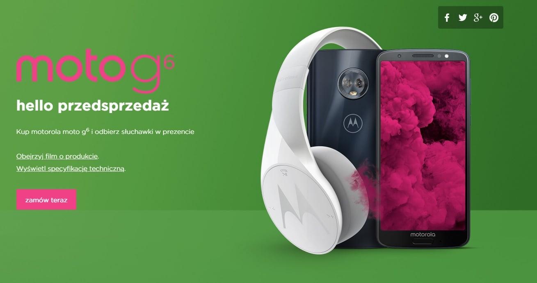 Rusza przedsprzedaż Moto G6. W zestawie słuchawki Pulse Escape, można też wygrać wycieczkę do Chicago 27