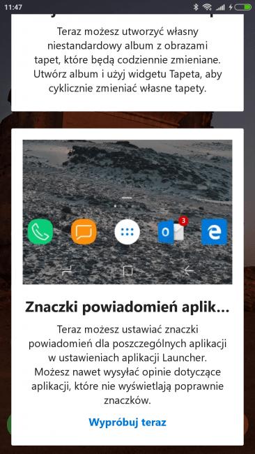 Tabletowo.pl Microsoft aktualizuje jeden z najlepszych launcherów na Androida. Jest obsługa paczek ikon Android Aplikacje Microsoft