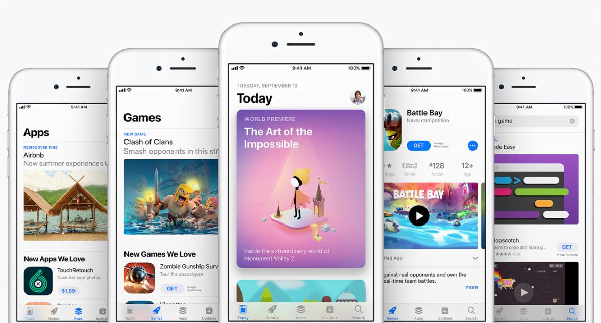 AppStore zaliczył spadek liczby aplikacji - po raz pierwszy w historii. A sklep Google Play pęka w szwach