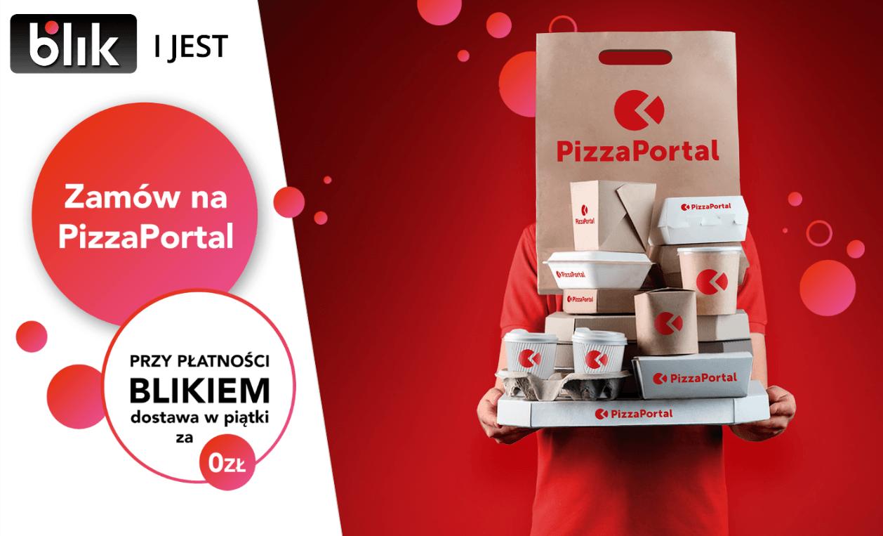 Czeka cię darmowa dostawa jedzenia w każdy piątek - o ile zamówisz coś przez PizzaPortal.pl i zapłacisz BLIKIEM 19