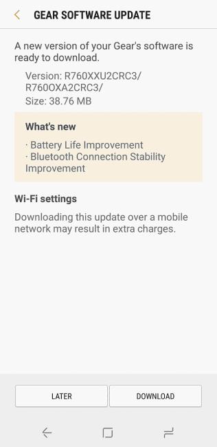 """Tabletowo.pl Poprawki dla Samsunga Gear S3 """"polepszają baterię"""", a dokładniej: naprawiają szkody po poprzedniej aktualizacji Aktualizacje Samsung Wearable"""