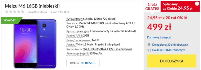 Stało się: Meizu oficjalnie powróciło do Polski. Model M6 w sprzedaży 19