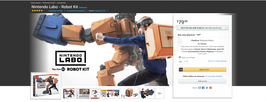 Tabletowo.pl Nintendo Labo wreszcie trafiło do sprzedaży. Czy Switch dostanie drugie życie? Nowości Sprzęt Technologie