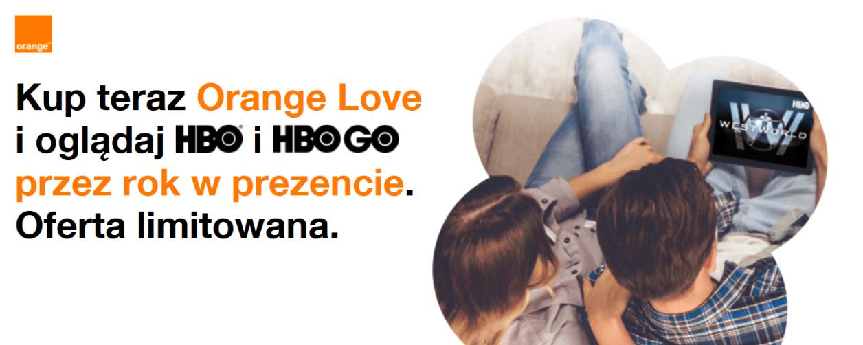 Rok darmowego HBO GO dla obecnych i nowych klientów Orange Love 18