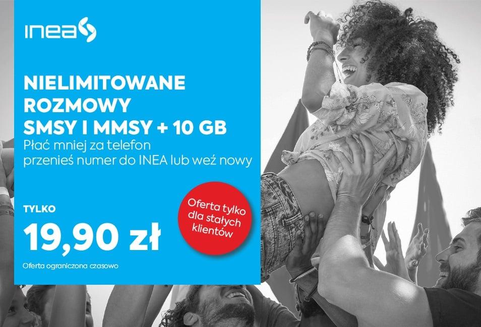 Tabletowo.pl Nielimitowane rozmowy, SMS-y, MMS-y i 10 GB internetu za 19,90 złotych od INEA to dobra oferta, ale jest jeden haczyk GSM Nowości