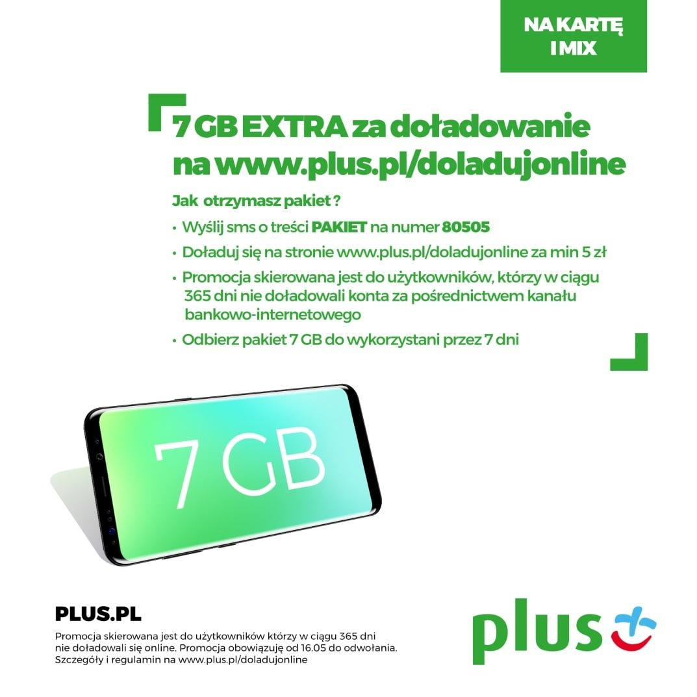 Tabletowo.pl Plus daje za darmo pakiet 7 GB internetu za doładowanie online, ale jest jeden haczyk GSM Promocje