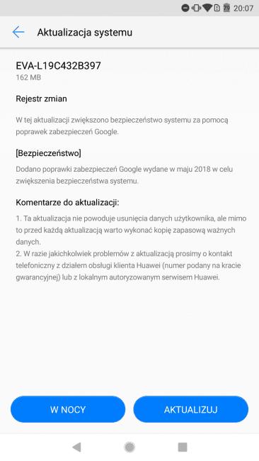 Tabletowo.pl Szybciej niż się spodziewałem: Huawei P9 otrzymuje majowe poprawki zabezpieczeń Aktualizacje Android Huawei