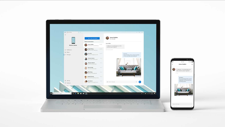 Tabletowo.pl Aplikacja Twój Telefon wreszcie pozwala na wysyłanie SMS-ów z poziomu laptopa z Windows 10, powiązanego ze smartfonem z Androidem Aplikacje Microsoft Nowości Windows