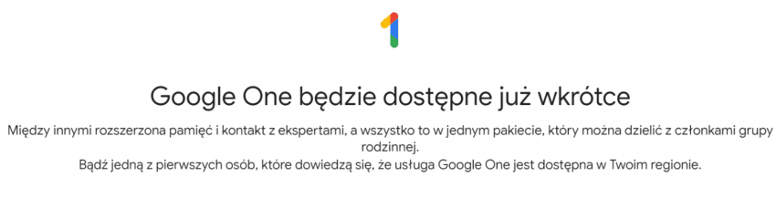 Google One - co to jest?