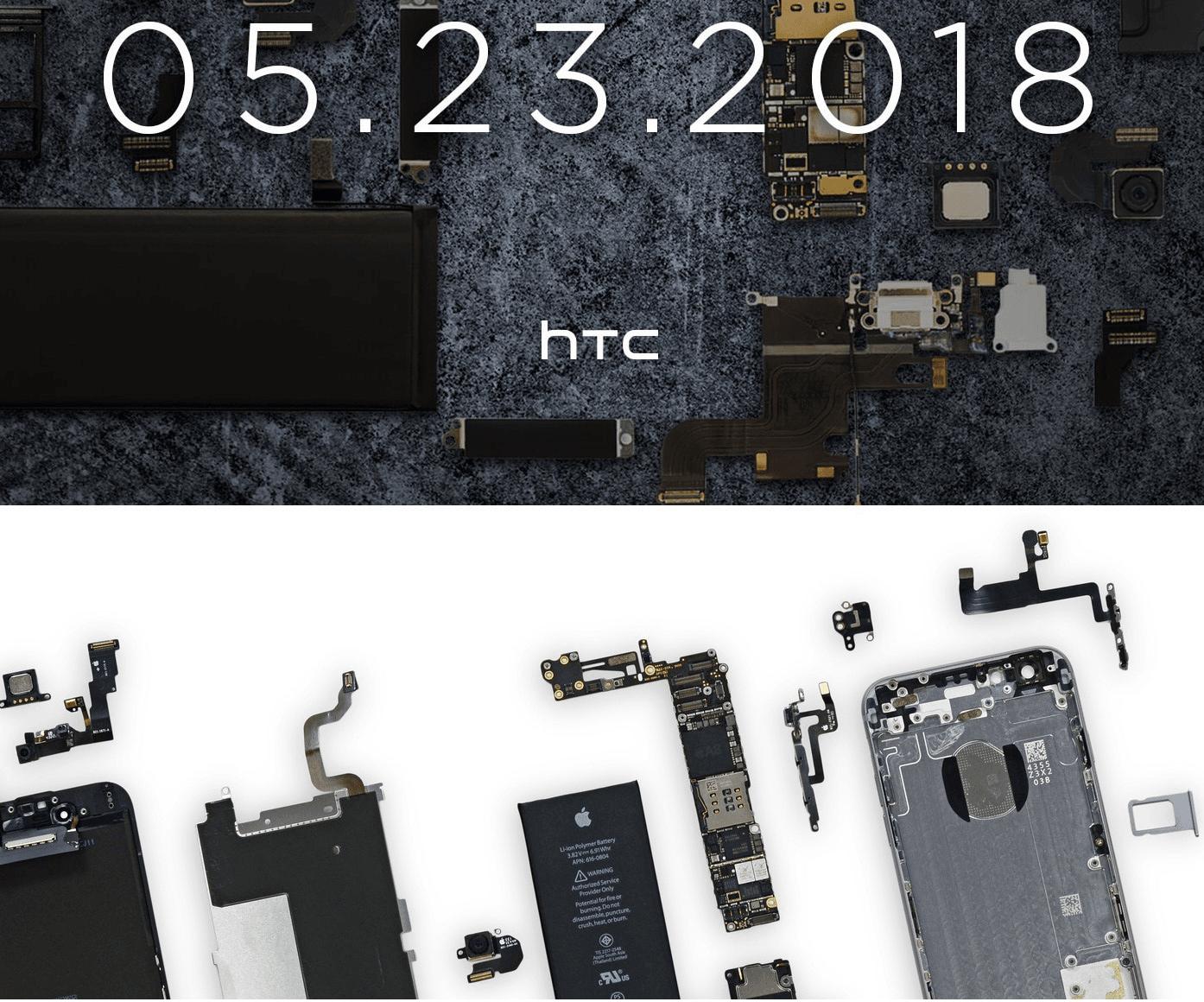 Tabletowo.pl Zabawni są ci koledzy z HTC: na plakacie z zapowiedzią modelu U12+ użyli zdjęcia z częściami iPhone'a 6 Ciekawostki HTC Smartfony