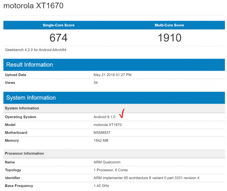 Tabletowo.pl Mijają długie miesiące. Motorola G5 została zauważona z Androidem 8.1 Oreo na pokładzie Aktualizacje Motorola Plotki / Przecieki Smartfony