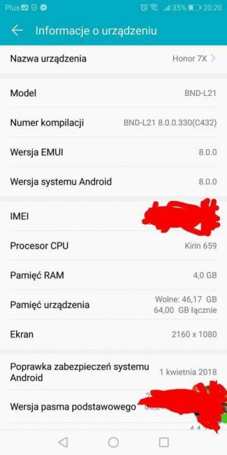 Tabletowo.pl Huawei sypnął aktualizacjami. Brandowany Honor 7X z Plusa dostaje Oreo, a P10 funkcję Face Unlock Aktualizacje Android Huawei Smartfony