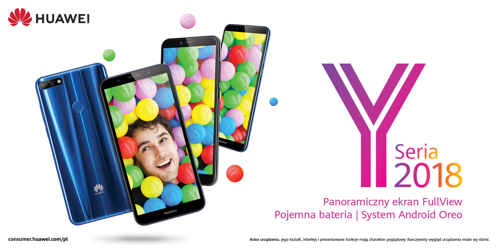 Huawei wprowadza na polski rynek modele Y7 Prime 2018, Y6 Prime 2018, Y6 2018 i Y5 2018. Znamy ich ceny 17