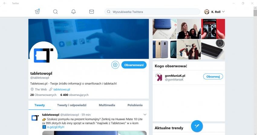 Tabletowo.pl Nowa aplikacja Twittera na sprzęty z Windowsem 10. Nawet używalna Aplikacje Nowości