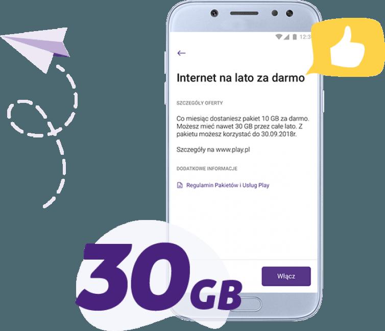Tabletowo.pl Play rozdaje darmowy internet na lato: do końca września można odebrać w sumie 30 GB GSM Promocje