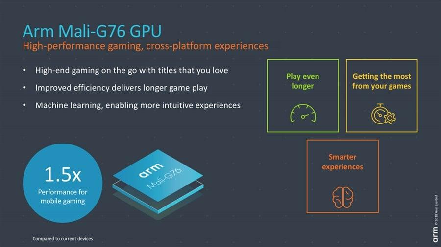 ARM zaprezentowało rdzenie Cortex-A76, grafikę Mali-G76 i procesor wideo Mali-V76. Trafią do flagowców 20