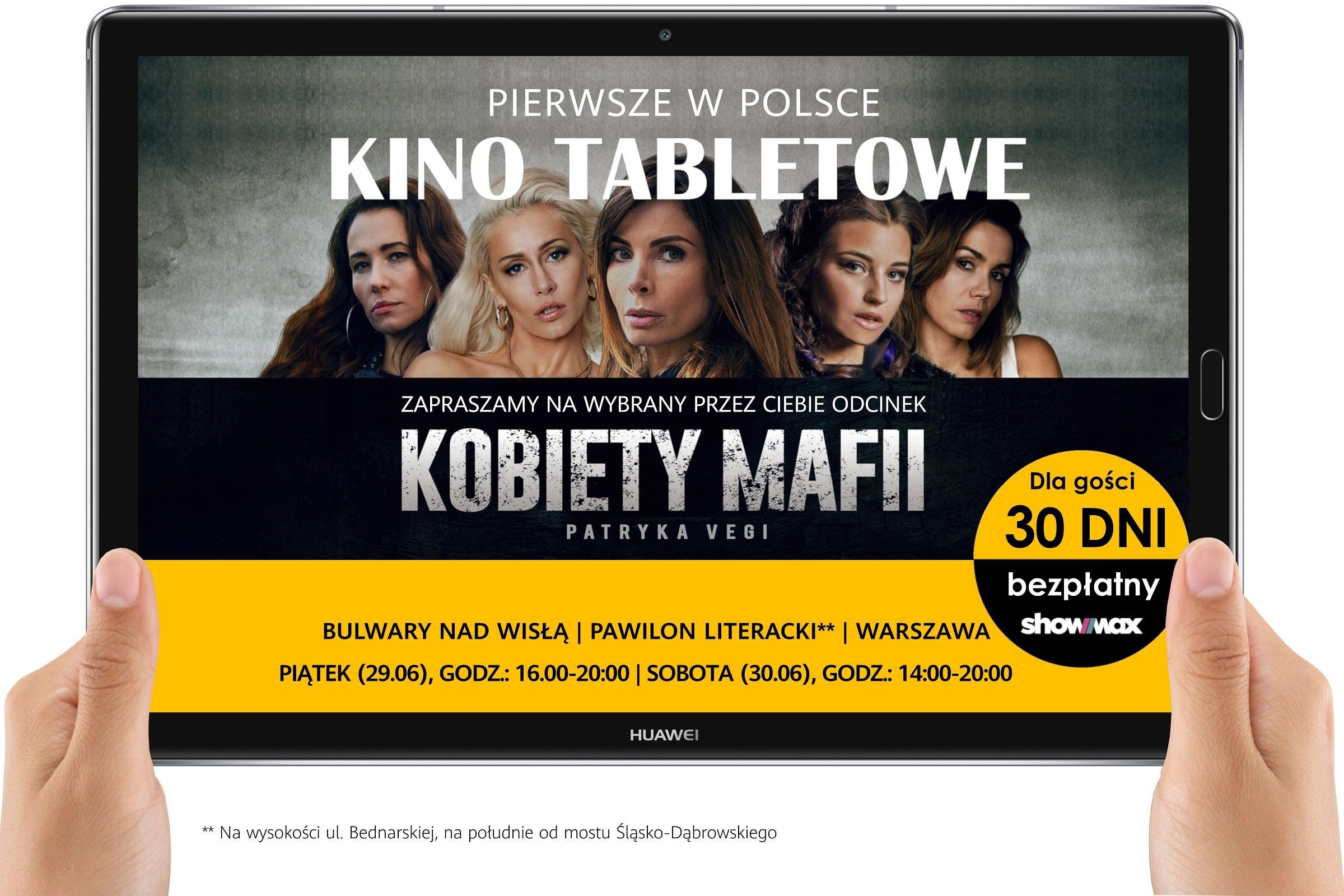 Tabletowo.pl Czegoś takiego w Polsce jeszcze nie było: Huawei i Showmax organizują kino tabletowe! Aplikacje Huawei Kultura Promocje