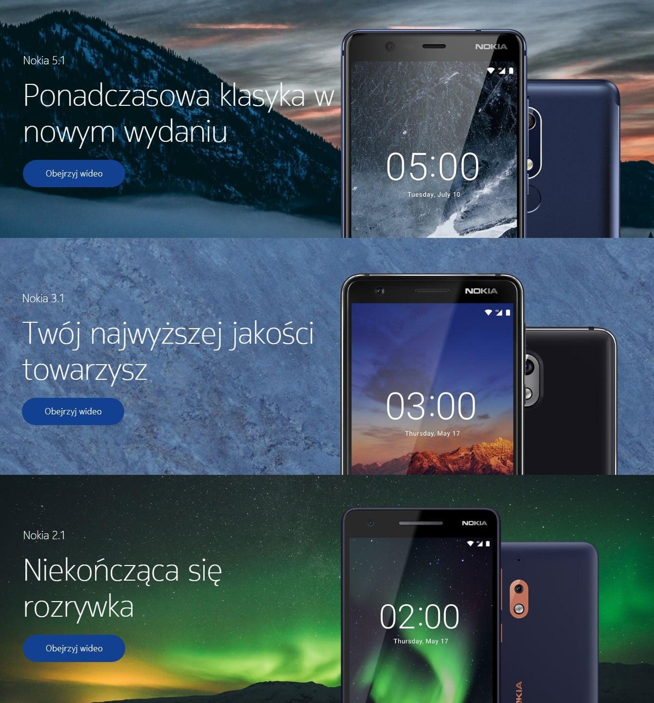 Tabletowo.pl Nokia 5.1, Nokia 3.1 i Nokia 2.1 na dniach trafią do sprzedaży w Polsce. Znamy ceny wszystkich modeli Android Nokia Plotki / Przecieki Smartfony