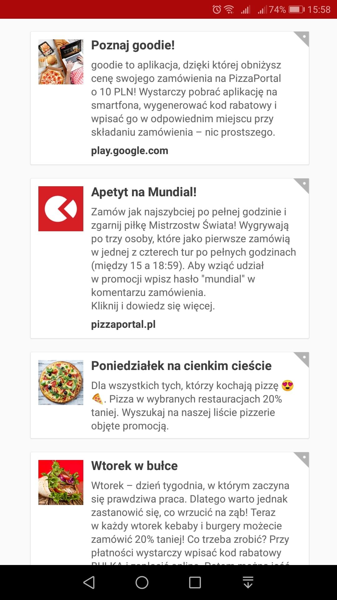 Tabletowo.pl Zgłodniałeś? To dobrze, bo możesz za darmo zgarnąć 10 złotych rabatu na zamówienie z PizzaPortal Aplikacje Promocje