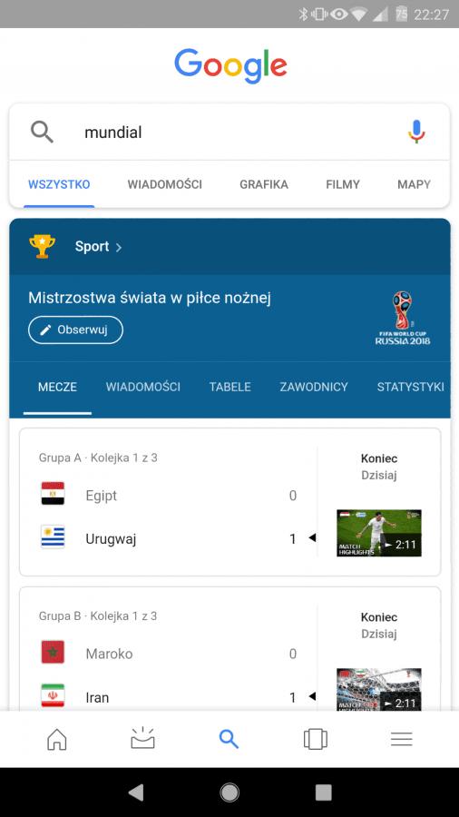 Tabletowo.pl Wow! Google dodało funkcję związaną z Mundialem 2018, która jest naprawdę świetna Android Ciekawostki Google