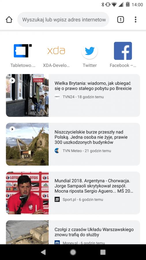 Tabletowo.pl Kiwi Browser czyli lekko zmodyfikowany Google Chrome - test i recenzja aplikacji Android Aplikacje Prześwietlenie Aplikacji Recenzje Aplikacji/Gier