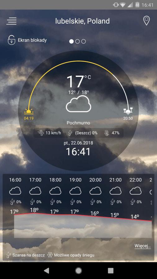 Tabletowo.pl Ta pogodynka kosztuje prawie 100 złotych, ale teraz możesz ją mieć za darmo (+ test i recenzja) Android Promocje Prześwietlenie Aplikacji Recenzje Aplikacji/Gier