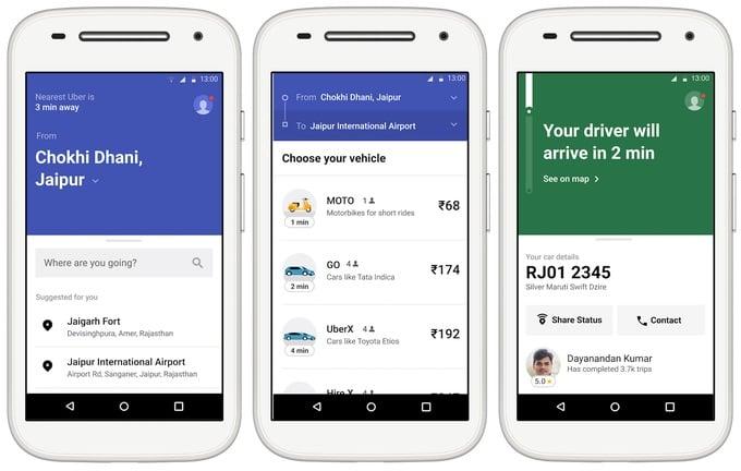 Tabletowo.pl Aplikacja Uber Lite pojawiła się w Sklepie Play. I waży zaledwie 5 MB! Android Aplikacje Nowości