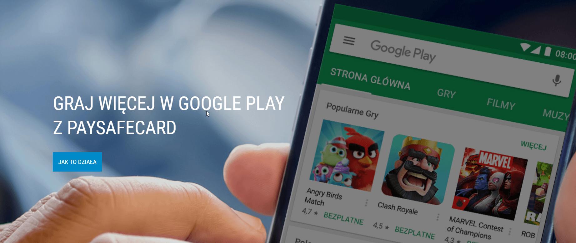 Tabletowo.pl PaySafeCard pojawiło się w sklepie Google Play - to naprawdę spore ułatwienie Android Nowości
