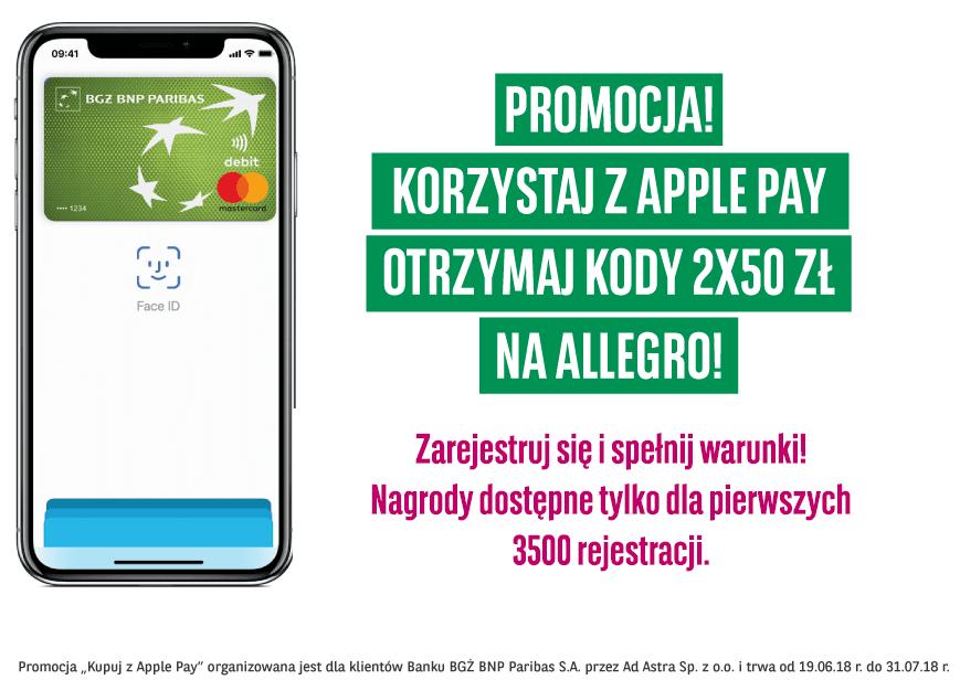 Tabletowo.pl mBank i BGŻ BNP Paribas świętują wprowadzenie Apple Pay do Polski, przygotowując specjalne promocje Apple Promocje