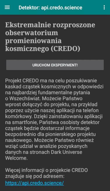 Tabletowo.pl Aplikacja CREDO Detector, czyli zamień swój smartfon w detektor cząsteczek Aplikacje Ciekawostki