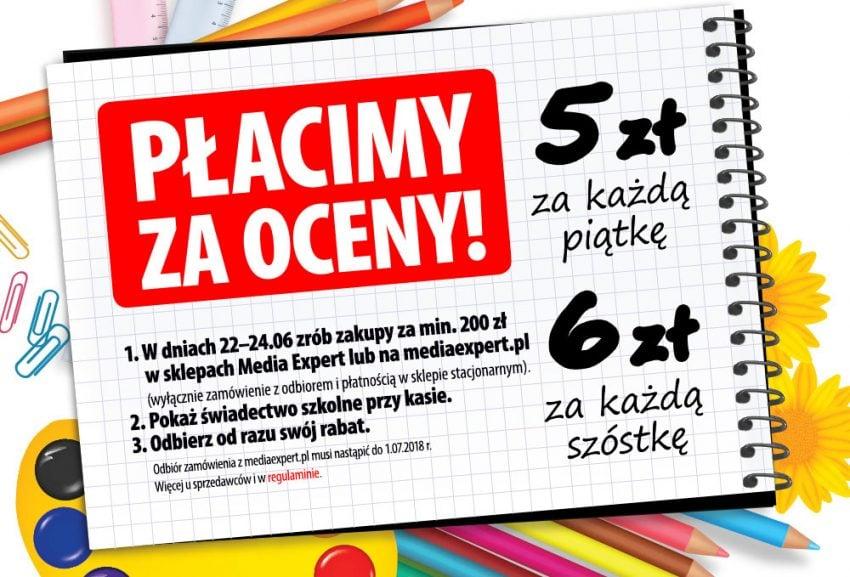 Tabletowo.pl Nie chowajcie swoich świadectw! Media Expert rusza z promocją, w której za piątki i szóstki dostaniecie rabat na elektronikę Promocje