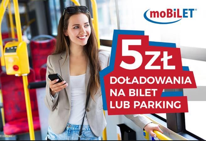 Promocja: zgarnij za darmo 5 złotych na bilety na komunikację miejską lub parkowanie w aplikacji moBiLET