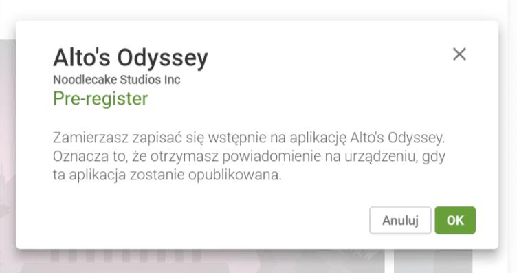 Tabletowo.pl Alto's Odyssey trafi na Androida w lipcu. Sklep Google Play poinformuje chętnych o premierze gry Gry Zapowiedzi